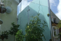 Glass & Stainless Steel Privacy Screen