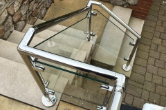 Tubular Steel & Glass Railings