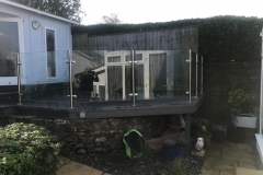 Decking with steel & glass balustrade