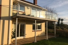 Terrace with steel & glass balustrade