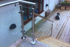 Tubular Steel & Glass Handrail