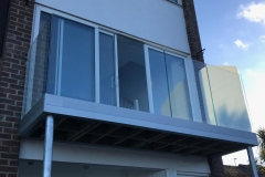 Replacement terrace with glass balustrade